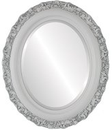 Oval And Round Mirrors OvalAndRoundMirrors.com Oval Beveled Mirror in a Venice style frame with outside dimensions