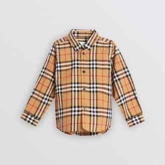 Burberry Childrens Vintage Check Cotton Shirt Size: 10Y
