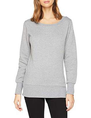 Urban Classic Women's Ladies Side Zip Long Crewneck Jumper,XL