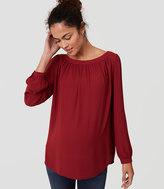 LOFT Maternity Shirred Blouse