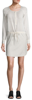 James Perse Sun Crepe Shirt Dress