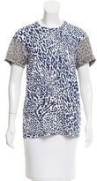 Comme des Garcons Abstract Print Shirt Sleeve T-Shirt