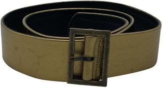 Reem Acra Gold Leather Belts