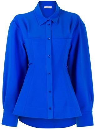Nina Ricci oversized flared-hem shirt