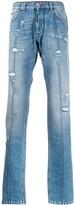 Philipp Plein Destroyed straight cut jeans