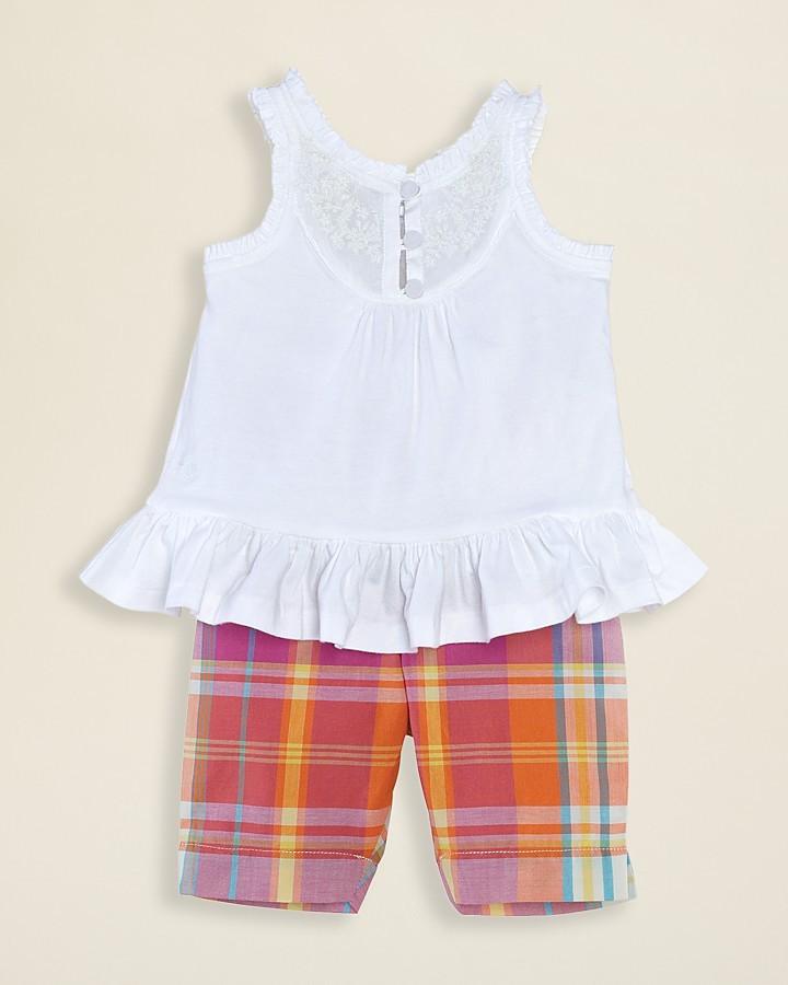 Ralph Lauren Infant Girls' Tank Top & Madras Leggings - Sizes 3-9 Months