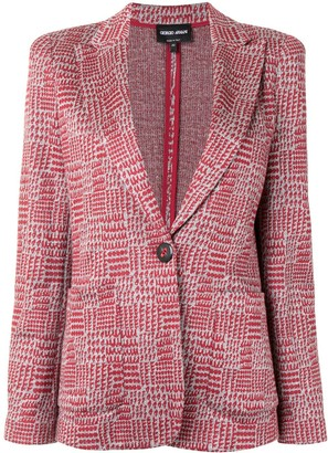Giorgio Armani Patterned Single-Breasted Blazer