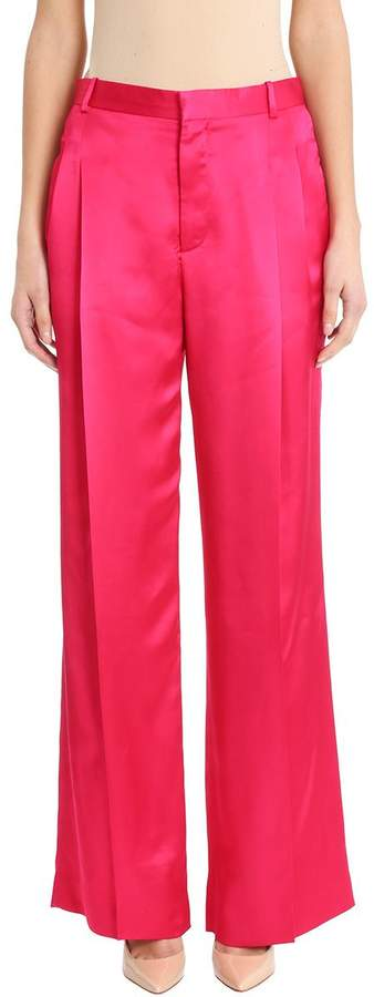 Givenchy High Waist Wide Leg Fucsia Trousers