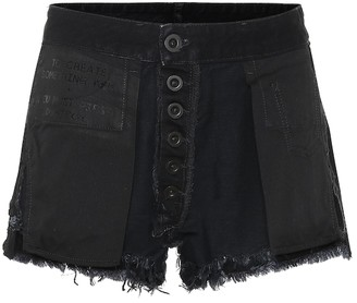 Unravel Reversed denim shorts