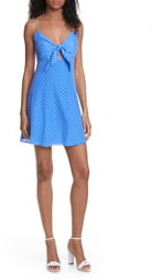 Alice + Olivia Roe Tie Front Cocktail Dress