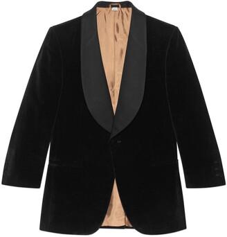 Gucci Velvet jacket with contrast lapel
