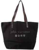 John Varvatos Leather-Trimmed Tote