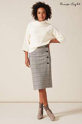 Phase Eight Womens Grey Caleb Check Pencil Skirt - Grey