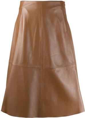 Peserico high-rise A-line skirt