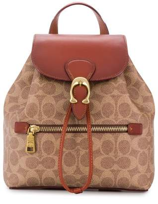 Coach Evie backpack in signature canvas