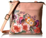 Anuschka Anna By  Anna by Handpainted Multi-Compartment Crossbody