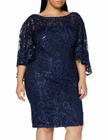Thumbnail for your product : Gina Bacconi Women's Leilani Sequin Cape Sleeve Dress Mother of The Bride