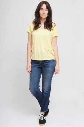 American Vintage Jacksonville Short Sleeve T Shirt In Broom - L
