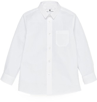 Very Boys 3 Pack Long Sleeved Slim School Shirts - White