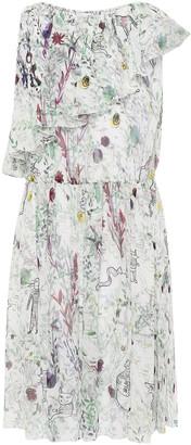 M Missoni Tiered Printed Silk-georgette Mini Dress