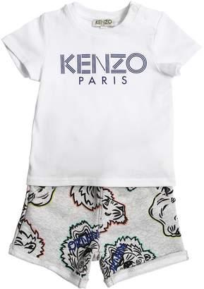 Kenzo Cotton Jersey T-Shirt & Sweat Shorts