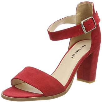 Pavement Women's Silke Ankle Strap Sandals, (Red Suede 324)