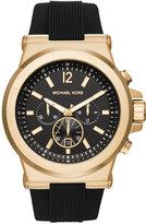 Michael Kors Men's Chronograph Dylan Black Silicone Strap Watch 48mm MK8445