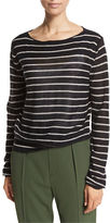 Vince Striped Cashmere Boat-Neck Sweater