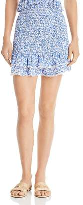 Lost and Wander Lost + Wander Pick Me Smocked Ruffled Mini Skirt
