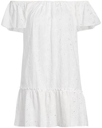 Eberjey Swim Sardinia Beth Eyelet Cover-Up Dress