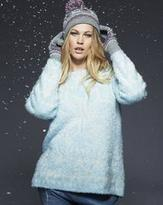 Snowflake Fluffy Knit Sweater