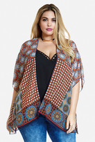 Fashion to Figure Serenity Medallion Print Kimono