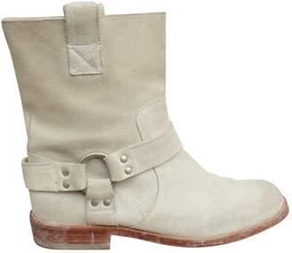 Maison Margiela \N White Suede Ankle boots
