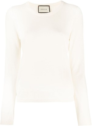 Gucci Round Neck Knitted Top