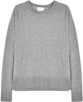 DKNY Grey Mélange Jersey Sweatshirt