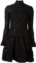 Simone Rocha textured mini dress - women - Silk/Acrylic/Polyamide/PBT Elite - 8