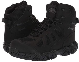 Thorogood 6 Crosstrex Side Zip Waterproof Comp Toe (Black) Men's Boots