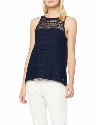Tom Tailor Denim (NOS) Women's Crochet Mix Top Vest