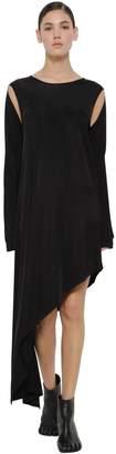 MM6 MAISON MARGIELA Asymmetrical Viscose Jersey Dress