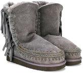Mou Kids fringe detail snow boots