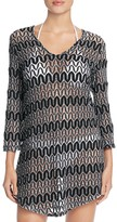 J Valdi Zigzag Crochet Tunic Cover-Up