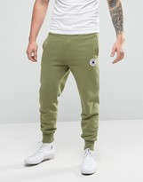 Converse Rib Cuff Patch Joggers In Green 10003292-a01