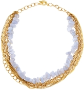 Janna Conner Women's Blue Lace Agate Collar Necklace