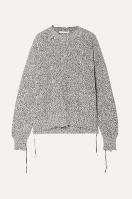 Helmut Lang Distressed Knitted Sweater - Gray