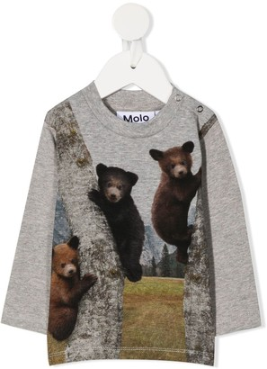Molo Teddy Bear print crew neck sweatshirt