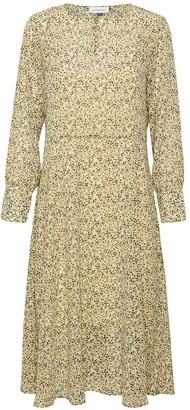 Denim Hunter - Agnes Flower Dress - 36   polyester   yellow - Yellow/Yellow