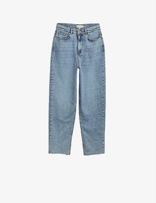 Ted Baker High-rise straight-leg denim jeans