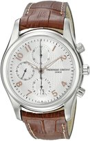 Frederique Constant Men's FC-392RV6B6 RunAbout Brown Leather Strap Watch