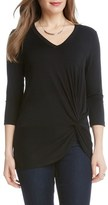 Karen Kane Women's Side Twist V-Neck Top