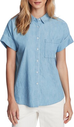 Court & Rowe Short Sleeve Chambray Shirt